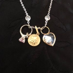 Jewelry - 3pc Charm sterling silver necklace.